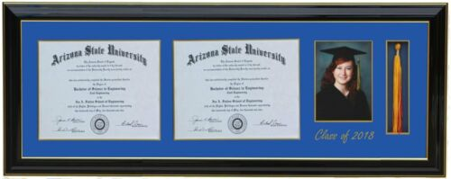 Customizable 6x8,8.5x11,11x14 Double Diploma Tassel 5x7 Picture Frame 2020