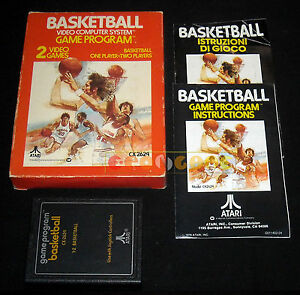 BASKETBALL-Atari-Vcs-2600-Versione-Europea-Text-Lebel-COMPLETO