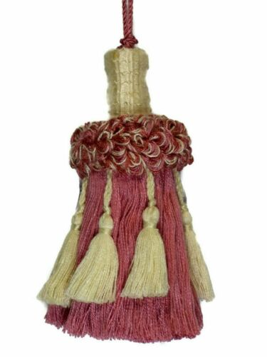 "Conso Empress 22949 W95 VANILLA PINK ROSE QUARTZ Decorative 5/"" Tassel 5/"" Loop"