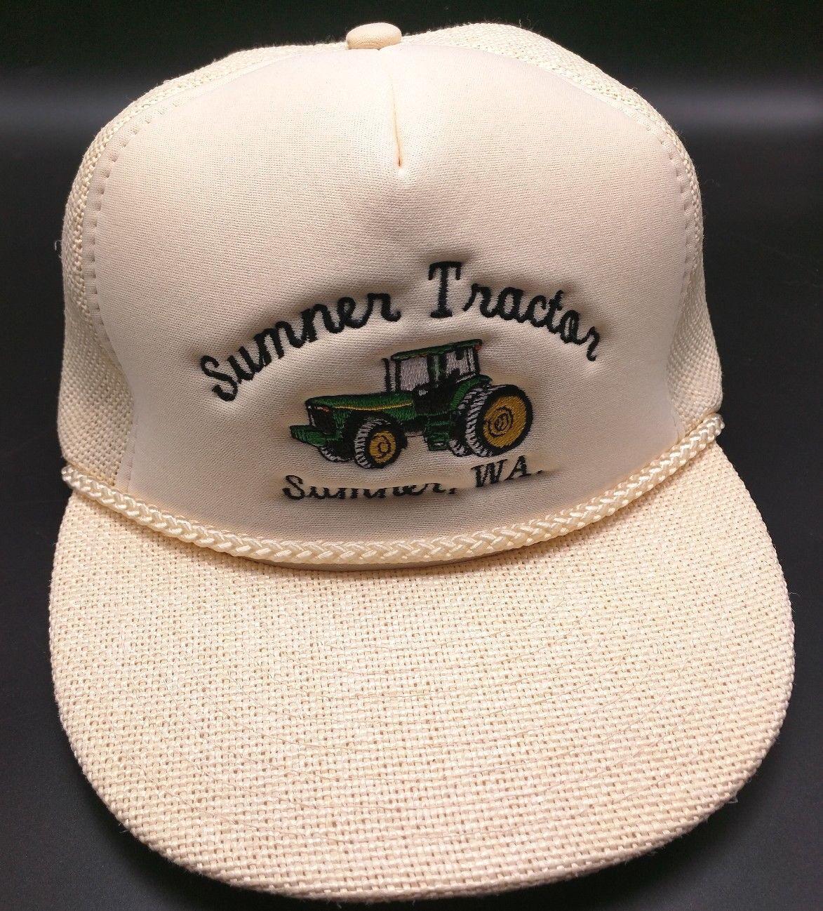 SUMNER / TRACTOR WA vintage off-white adjustable cap / SUMNER hat - flat brim 13efc0