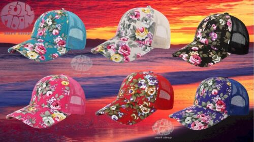 New Hawaiian Flower Floral Womens Trucker Beach Cap Hat