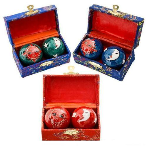 CELESTIAL CHINESE BAODING CHIMES CHIMES HEALTH STRESS RELIEF THERAPY BALLS #AA43