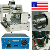 Cnc Router Engraver Milling Machine Engraving Drilling 4 Axis 3020 Desktop