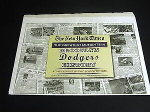 BROOKLYN-DODGERS-Newspaper-Pages-NY-Times-History-NEW