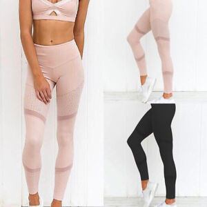 Women-Yoga-Mesh-Running-Gym-Leggings-Trousers-Lady-Girl-Fitness-Sportswear-Pants