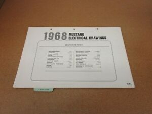1968 Ford Mustang Wiring Diagram Sheet Schematics Service Manual Ebay