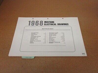 1968 Ford Mustang wiring diagram SHEET schematics service ...