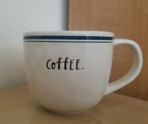 NEW-Rae-Dunn-by-Magenta-Blue-Stripe-Indigo-COFFEE-Cappuccino-Mug-Home-Decor