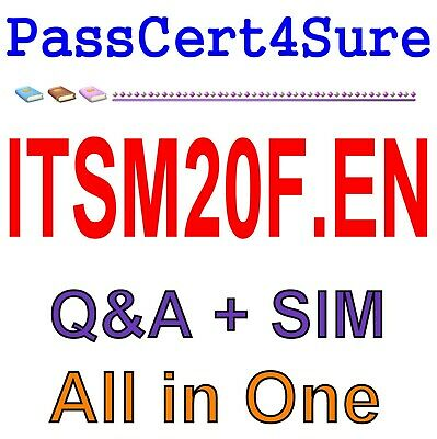 Exin IT Service Management Foundation ISO//IEC 20000 EX0-115 Test ITSM20F.EN EXAM