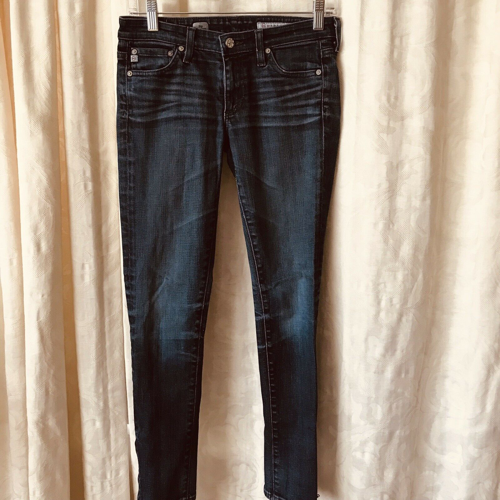 AG Adriano goldschmied Zip Legging Skinny Womens Denim Dark bluee Jeans 26 x 28