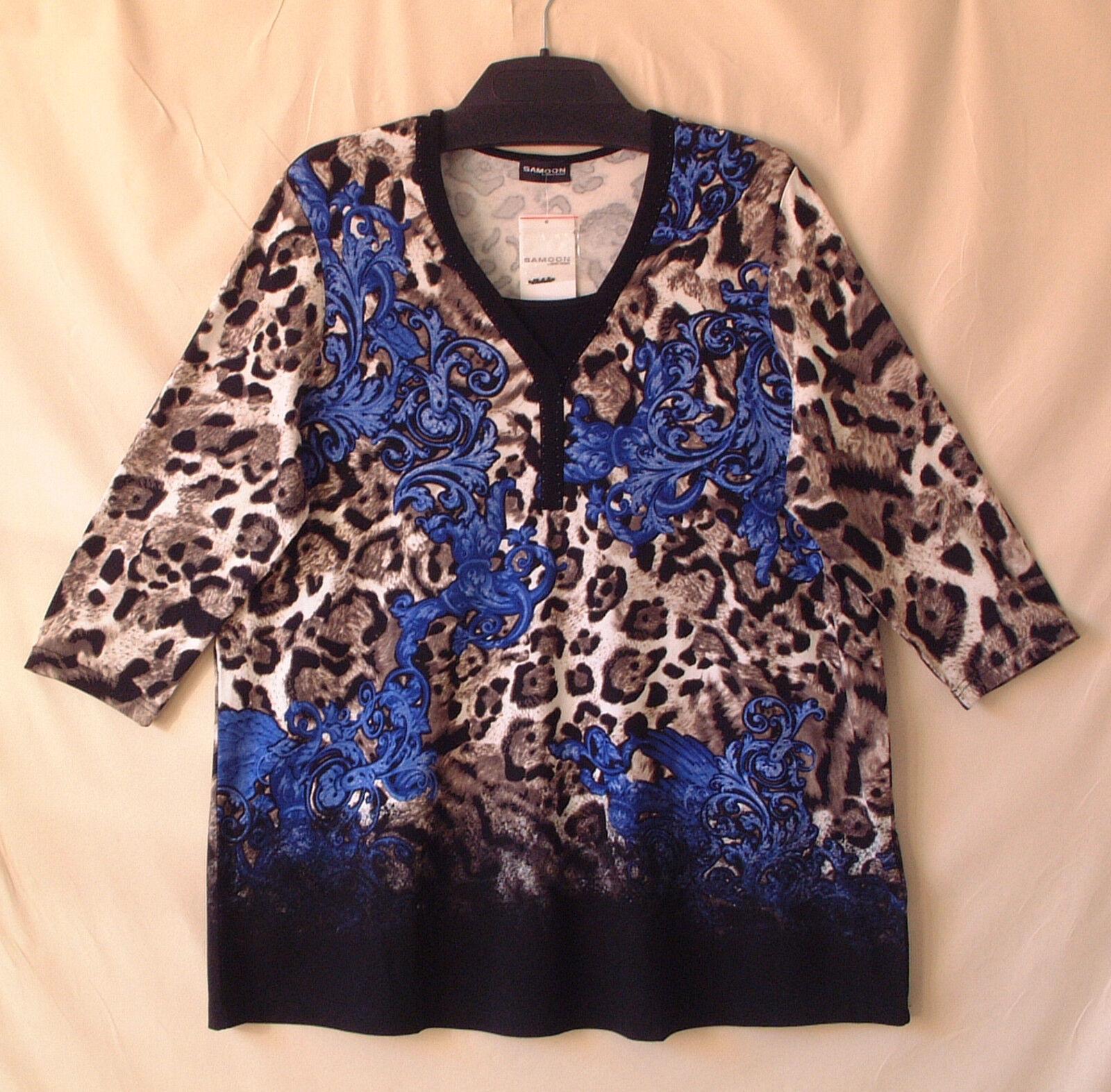 Samoon Shirt Gerry Weber Longshirt Damen Viskose Stretch 3 4Arm Neu Damen Gr.