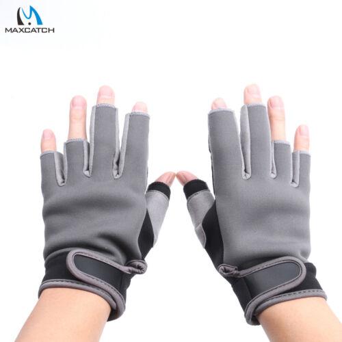 Maxcatch Fly Fishing Sports Gloves Half-Finger Nonslip Size L