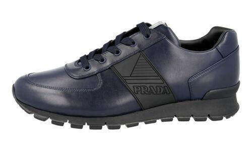 Lujo prada matchrace cortos zapatos 4e3198 azul nuevo 10 44 44,5