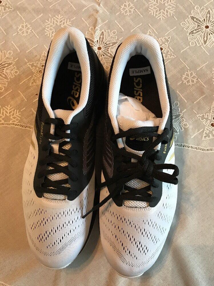 Asics Fuze X Lyte Hombre Nuevo muestra Talla EE. UU. 9 Negro Dorado blancoo Zapatillas Rico