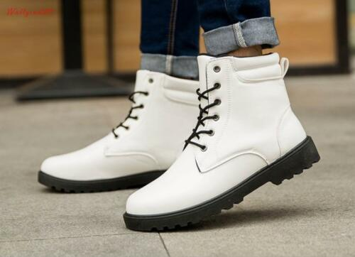 England style classic Mens lace up round toe Casual work Ankle Boots