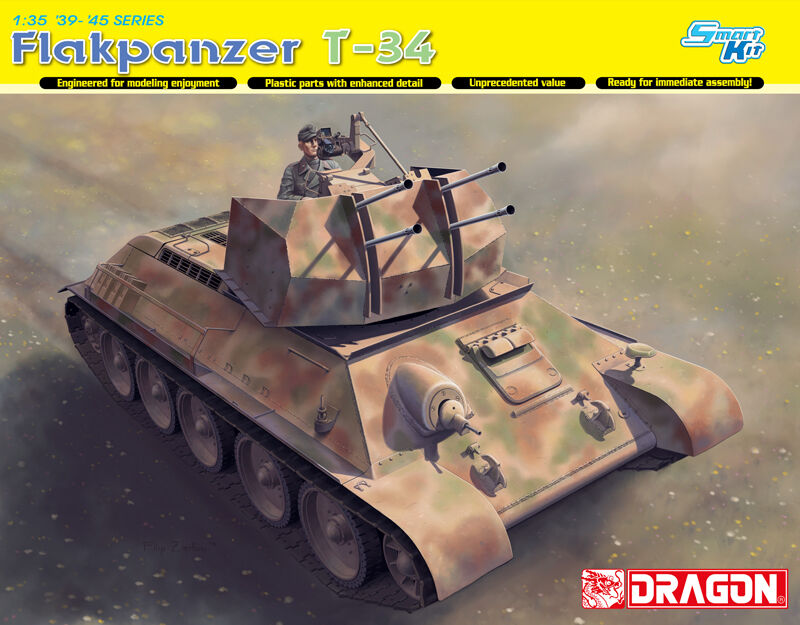 Dragon Models 1 35 Flakpanzer T-34(r) [Smart Kit]