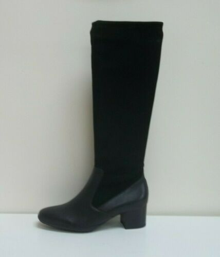 40 bnwb Kaiser Peter Ailo eu £229 Boots Knee High Suede leather Black Uk Rrp 7 fnP4qnp6