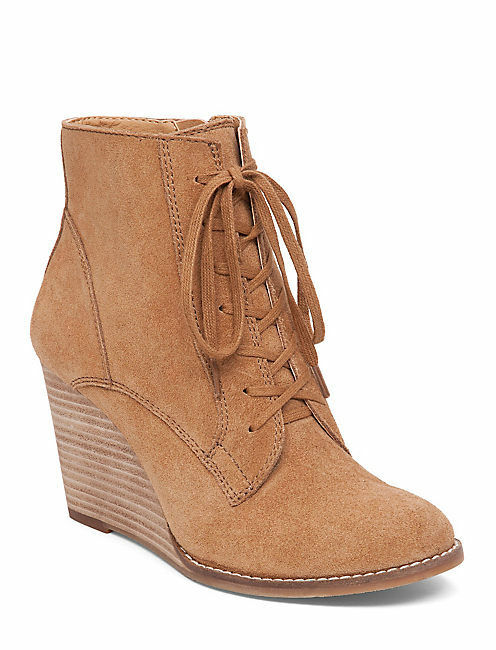 Gentleman/Lady Lucky Brand-Yelloh-Honey-Oiled Suede-Women's Wedge Bootie-Side Zip We have won praise from our customers. a good reputation in the world Official website