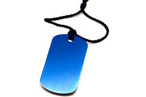 Personalised-Blue-Aluminium-Dog-Tag-Bookmark-Gift-Box-Choice-of-Tassel-Engraved
