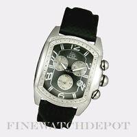 Authentic Techno Master Men's Black Leather Watch TM2063