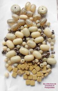Grosses Soldes Perles Resine Beige Intercalaires Metal Montez Vous Meme Votre Sautoir Pas De Frais à Tout Prix