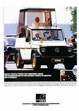 2001 Mercedes Benz G500 Popemobile Original Advertisement Print Art Car Ad J589