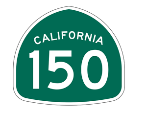 California State Route 150 Sticker Decal R1221 Highway Sign