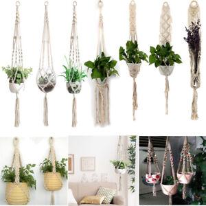 1-3pcs-Macrame-Plant-Hanger-Basket-Ceiling-Socket-Flowerpot-Holder-Craft-Decor