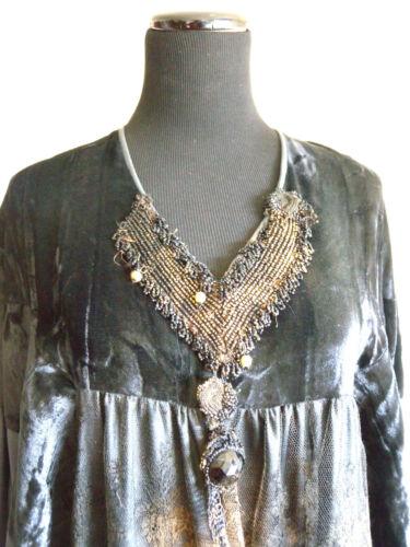 vintage Paris  silk dress wearable art 80's
