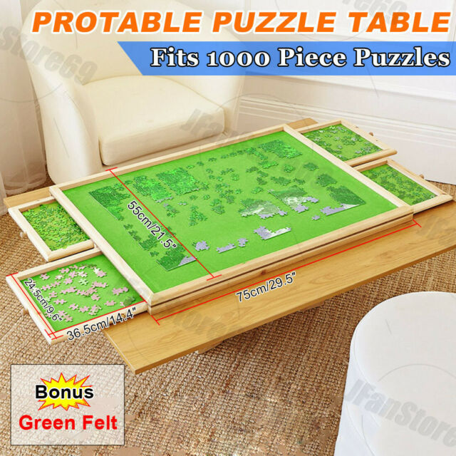 1000 Pieces Wooden Puzzle Table Jigsaw Puzzles Puzzle Board 4 Sliding Drawers AU