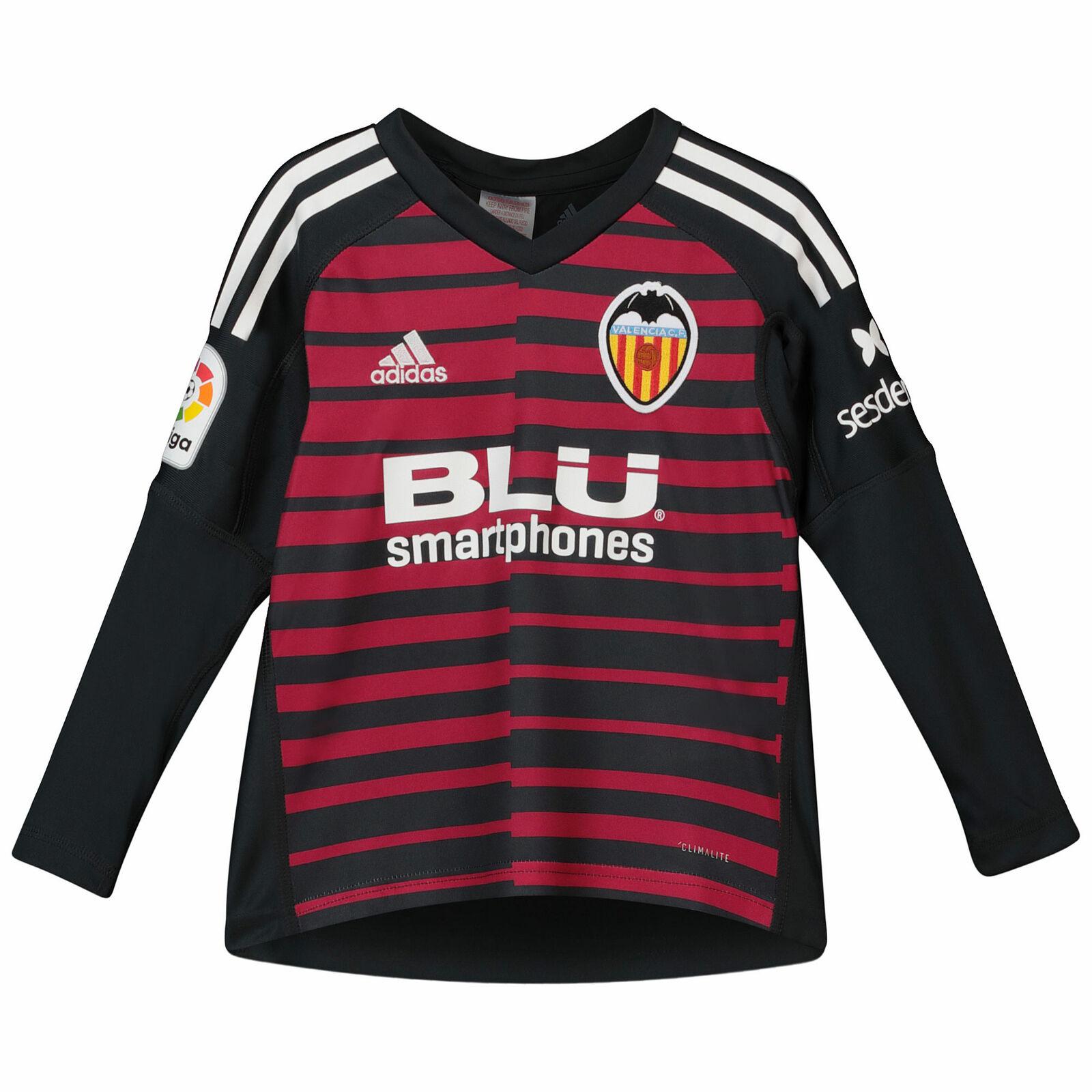 Offiziell Valencia CF Torwart Shirt Trikot 2018 19 Jungen Langarm Fußball adidas