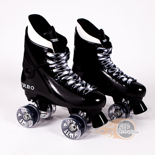 Ventro Pro Turbo Wheels Quad Roller Skates, Bauer Style - Airwave Wheels Turbo Clear 4201aa