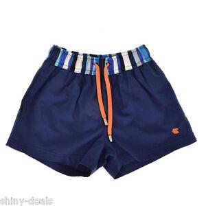 ... Nuovo-Boxer-Slip-Blu-Bambino-Costume-da-Bagno-100-Cotone-Size-3-4-anni