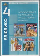 4 MGM COMEDIES MOVIE COLLECTION Weekend At Bernie's HOT DOG THE MOVIE NEW DVD