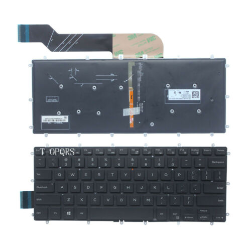 New FOR Dell Inspiron 15  7560 7569 7579  7558 7568 US Backlit Keyboard No Frame
