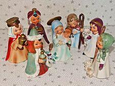 Vintage Christmas Nativity Set Josef Original Figures Ceramic Japan #