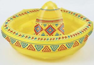 Childs Inflatable Blow Up Sombrero Toy 18 Inch Kids Fancy Dress Party Accessory
