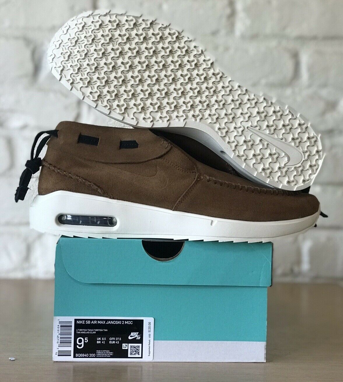 Arrepentimiento traductor Manifiesto  Size 9 - Nike SB Air Max Stefan Janoski 2 MOC Brown Suede for sale online |  eBay