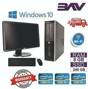 Hp-Dell-Computadora-Desktop-SFF-USFF-Paquete-De-Pc-Intel-i3-i5-i7-8GB-Ram-240GB-SSD