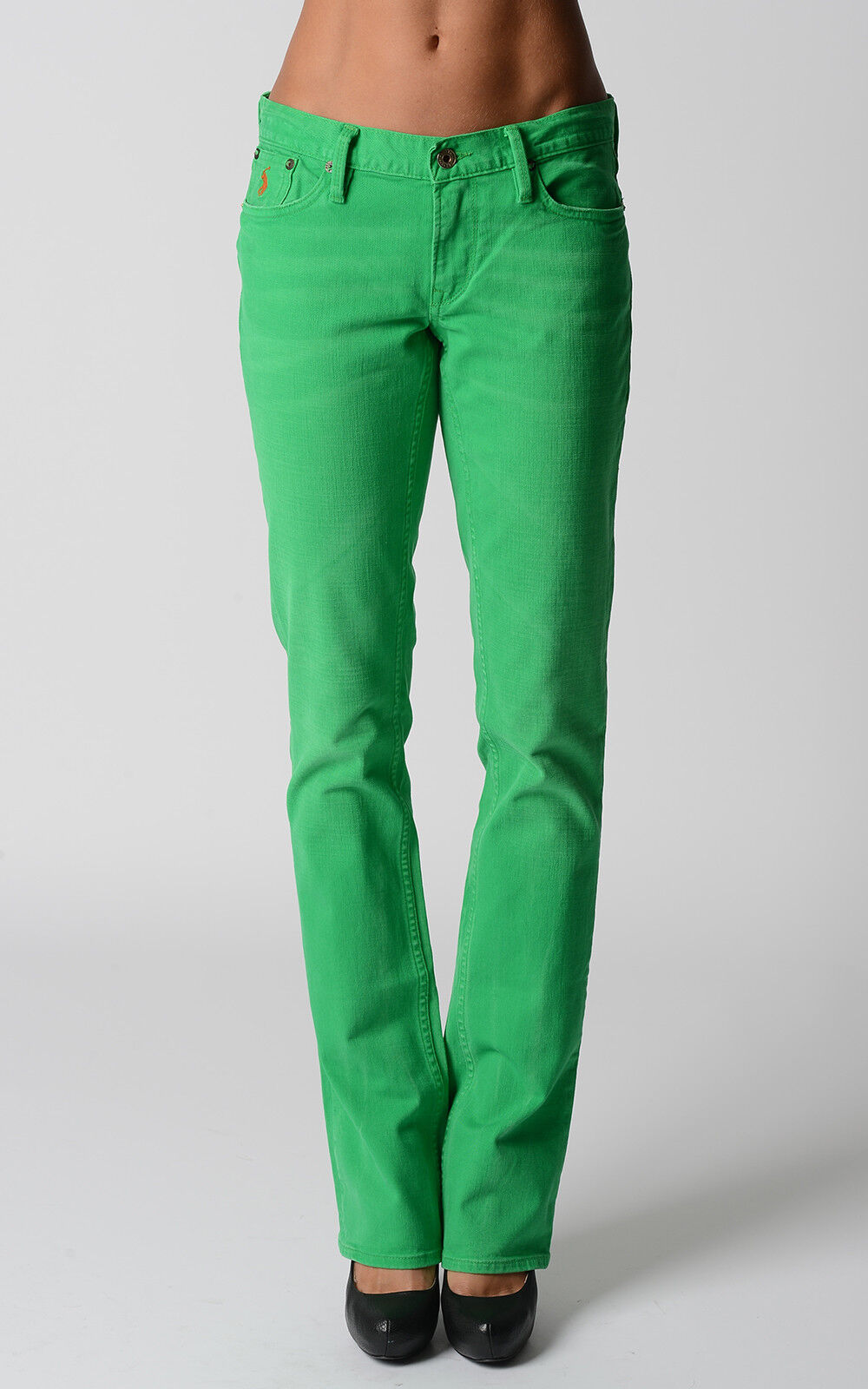 Ralph Lauren damen Jeans Madison Stiefel Grün Pants Gift For Her NWT