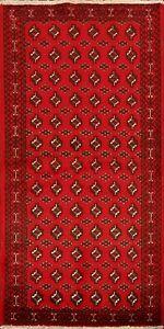 Nomad-Balouch-Geometric-Handmade-Oriental-Runner-Rug-Traditional-Wool-Carpet-3x7