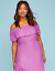 Lane-Bryant-Womens-Off-the-Shoulder-Ruffle-Maxie-Dress-Plus-14-16-18-20-Orchid thumbnail 8