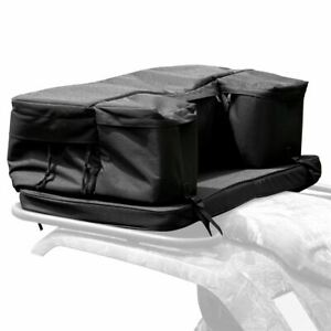 Black 4-Wheeler ATV Rear Rack Gear Storage Bag with Cushion