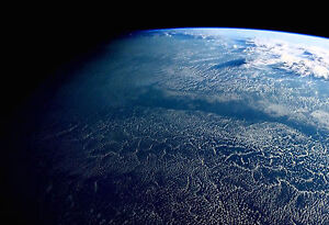 Details about Framed Print - Curvature of Plant Earth from Space (Picture  Galaxy Universe Moon