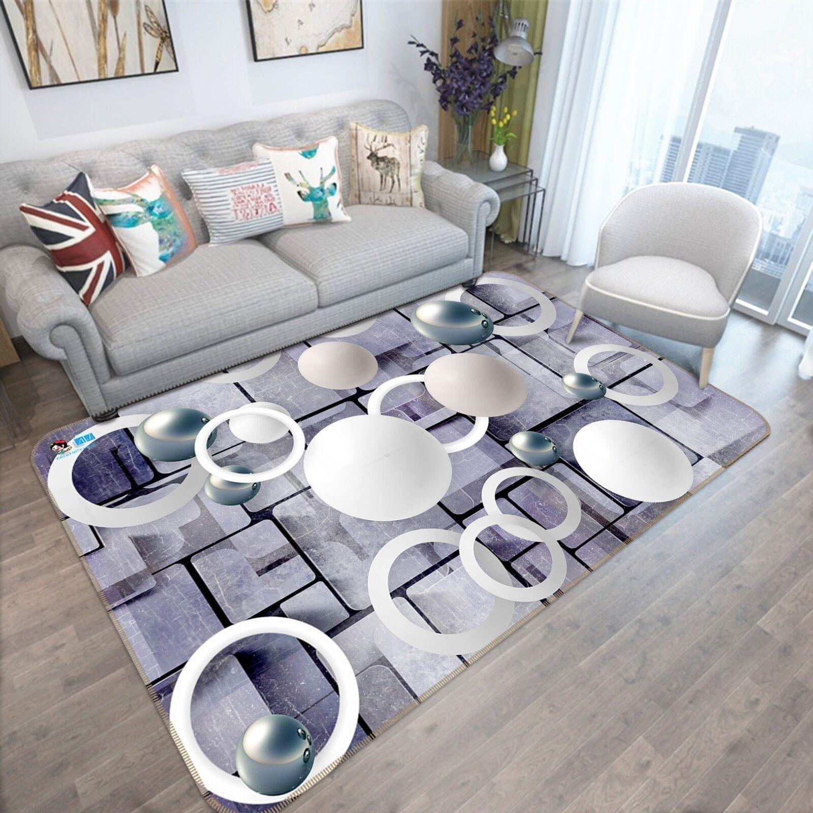 3D rossoondo Cubo Palla 3 tappetino antiscivolo tappeto camera Tappetino Qualità Elegante foto Tappeto UK