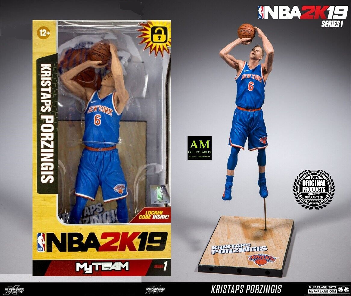 Mcfarlane NBA 2K19 Team Serie 1- Kristaps Porzingis New York Knicks - Nuovo