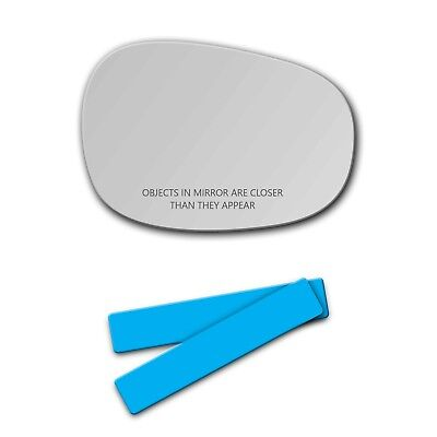 808LF BMW 128 135 323 328 335 M3 Mirror Glass FULL SIZE ADHESIVE Driver Side LH