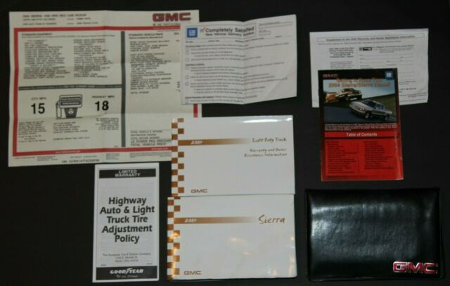 2004 04 Gmc Sierra    Denali Owners Manual Handbook Set W