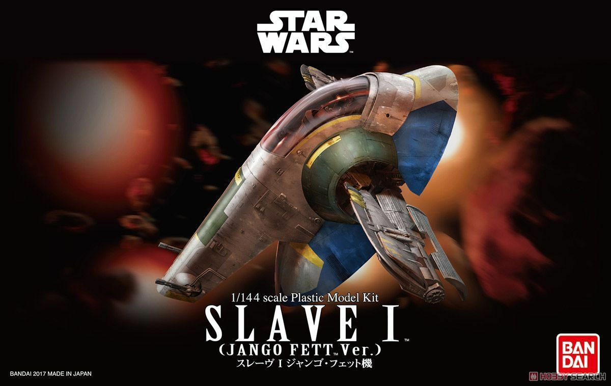 Genuine BANDAI 1 144 Starwar SLAVE I Jango Fett Ver. Plastic Model F S Kits