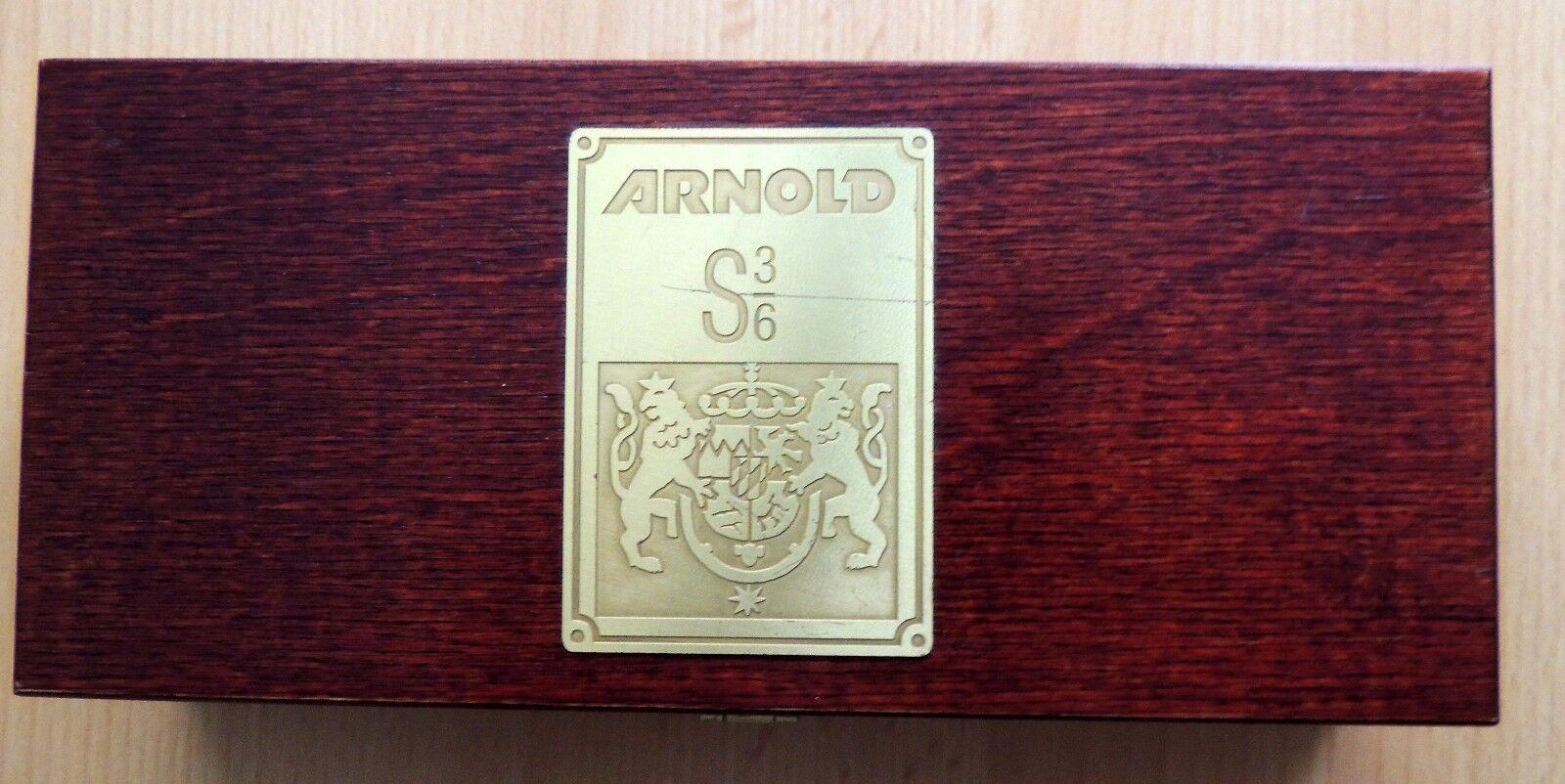 Arnold   2547  STILO Tenderlok, S 3/6, OCRA/Nero   oggetto da collezione   Ovp
